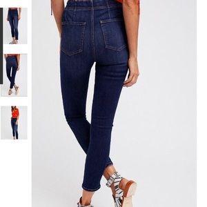 Free people highrise pull on jean legging